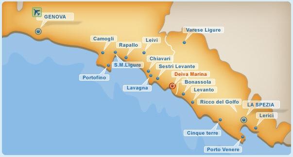 Liguria Di Levante Cartina.Dove Sostare Con Il Camper In Liguria La Riviera Di Levante Viaggidee Camperizzate