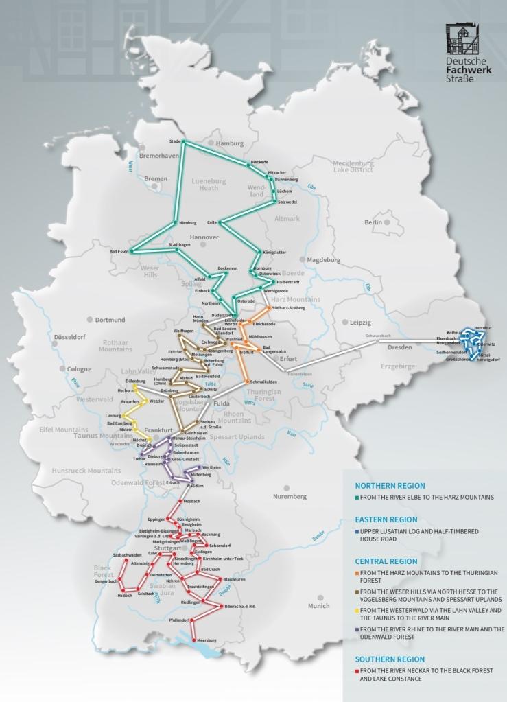 Dortmund Germania Cartina.Germania In Camper Lungo La Strada Delle Case A Graticcio Viaggidee Camperizzate